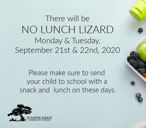 No Lunch Lizard on 9/21 and 9/22